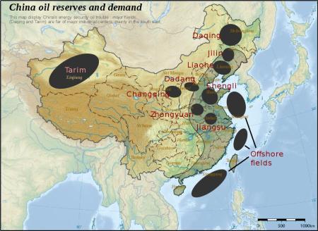 China - principais reservas petrolíferas